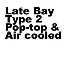 Late Bay Type 2 Pop Air Black by splashgti
