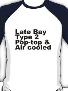 Late Bay Type 2 Pop Air Black T-Shirt