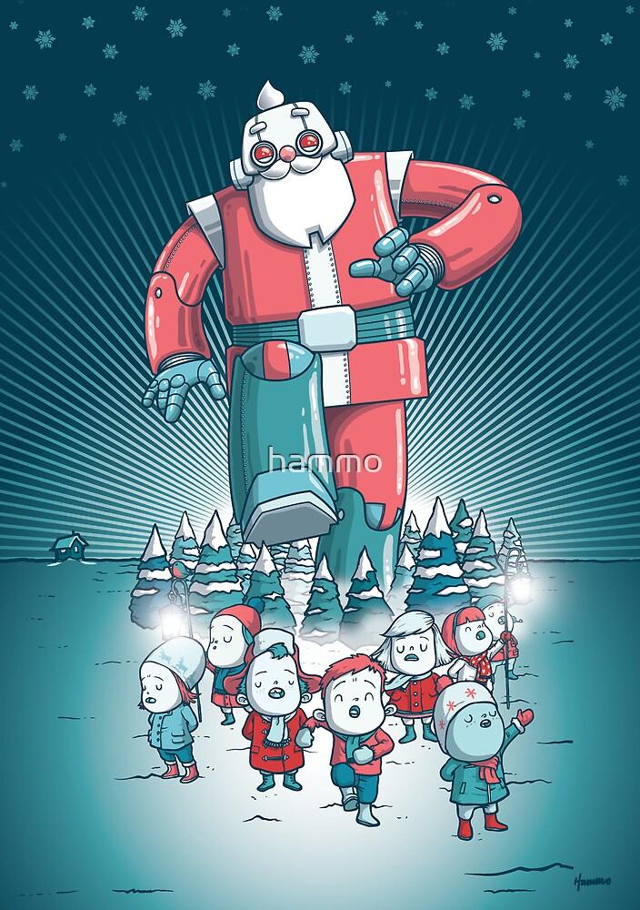 Robo-Santa Card by hammo