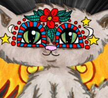Cute cat fairy art, Day of the Dead Sticker