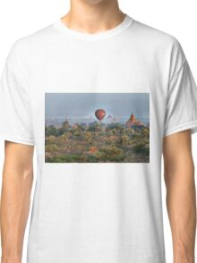Ballons ride over temples of Bagan Classic T-Shirt