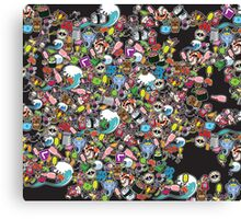 Sticker Bomb Canvas Print