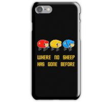 Where no Sheep Has Gone Before iPhone Case/Skin