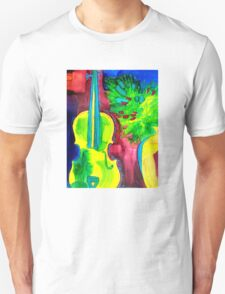 Colorful Violin Unisex T-Shirt