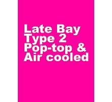 Late Bay Type 2 Pop Air White Photographic Print