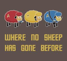 Where no Sheep Has Gone Before One Piece - Short Sleeve