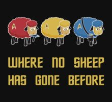 Where no Sheep Has Gone Before Kids Tee
