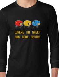 Where no Sheep Has Gone Before Long Sleeve T-Shirt