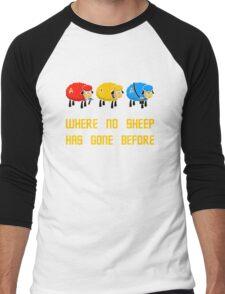 Where no Sheep Has Gone Before Men's Baseball ¾ T-Shirt