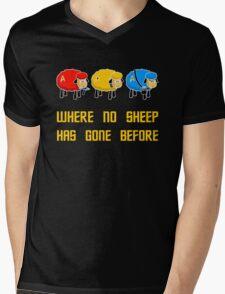 Where no Sheep Has Gone Before Mens V-Neck T-Shirt