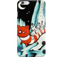 Red and white worm iPhone Case/Skin