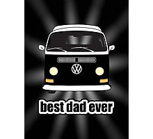 Best Dad Ever Black Sunburst Early Bay Photographic Print