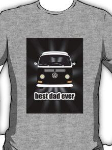 Best Dad Ever Black Sunburst Early Bay T-Shirt