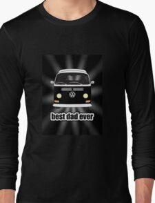 Best Dad Ever Black Sunburst Early Bay Long Sleeve T-Shirt