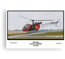 Allouette - armée de TERRE Canvas Print