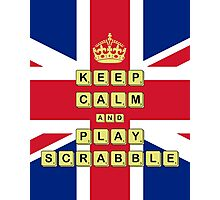 Keep Calm And Play Board Games Photographic Print