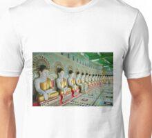 sitting Buddhas in Umin Thonze Pagoda Unisex T-Shirt