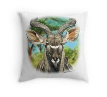 GREATER KUDU 5 Throw Pillow