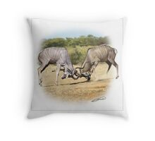 GREATER KUDU 3 Throw Pillow