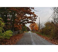 Another country road in the fall Photographic Print