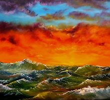 Florida Sunset at Sea by Harry Gray