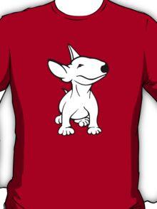 English Bull Terrier Pup White T-Shirt