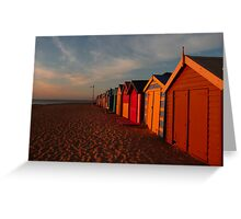 Basking in the Retreating Rays Greeting Card
