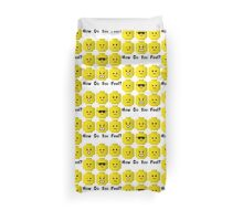 'How Do You Feel?' by Customize My Minifig  Duvet Cover