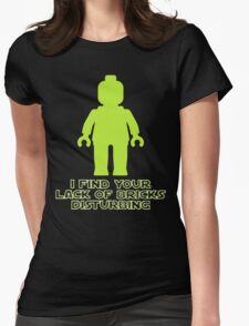 """I Find Your Lack of Bricks Disturbing"" by Customize My Minifig T-Shirt"