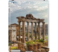Ancient Roman Forum Ruins - Impressions Of Rome iPad Case/Skin