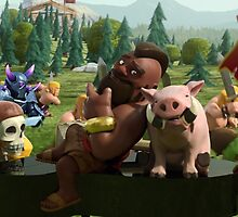 Clash of Clans Poster Art by SXArtist