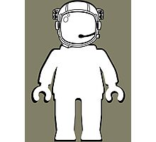 Banksy Style Astronaut Minifigure by Customize My Minifig Photographic Print