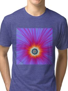 Explosion in Pink Blue and Red Tri-blend T-Shirt