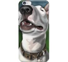 Lola English Bull Terrier Painting 2 iPhone Case/Skin