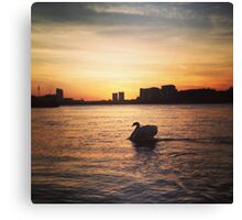 Greenwich sunset Canvas Print