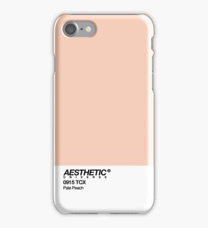 AESTHETIC UNIVERSE PALE PEACH DESIGN iPhone Case/Skin