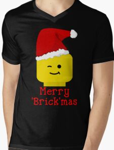 Santa Minifig - Merry 'Brick'mas Mens V-Neck T-Shirt