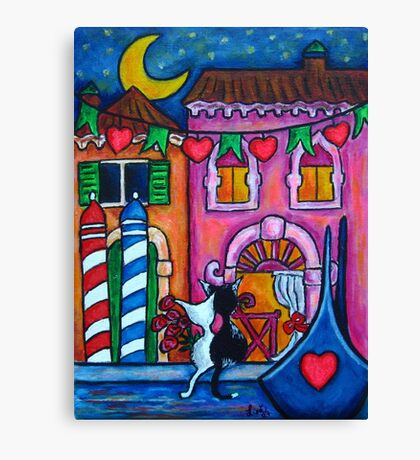 Amore in Venice Canvas Print