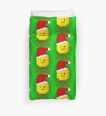 Santa Minifig - Merry 'Brick'mas Duvet Cover