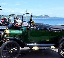 Vintage Cars at Lyme Dorset UK by lynn carter