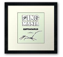 Dino Mania Quetzacoatlus Framed Print