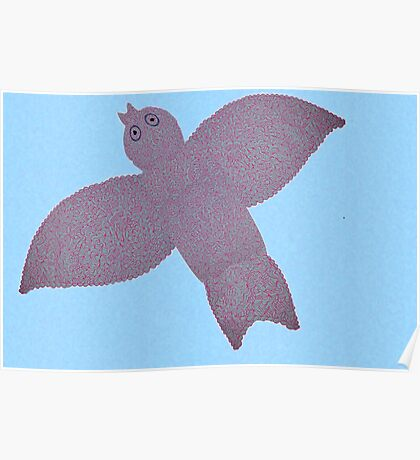 Winged Pattern Poster