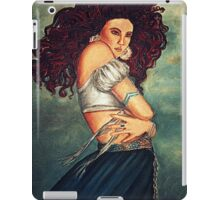 young woman in the wind iPad Case/Skin