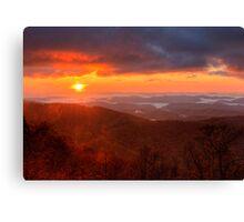 October Sunrise Canvas Print