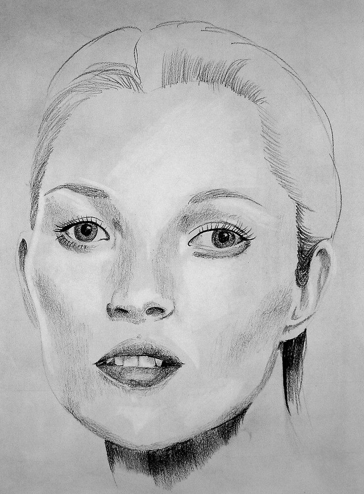 Kate Moss portrait by LaurenLeigh