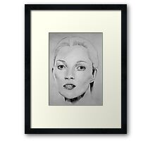 Kate Moss portrait Framed Print
