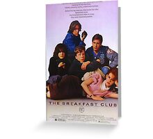 The Breakfast Club Movie Poster Greeting Card