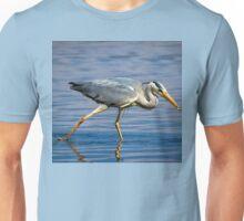 Grey Heron having a snack Unisex T-Shirt