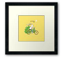 July. Framed Print