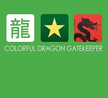 Colorful Dragon Gatekeeper by redinthesea